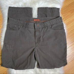 L.L. Bean Riverton Hiking Cargo Pants Grey Sz 40